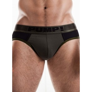 PUMP! Ribbed Brief - Military