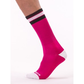Barcode Berlin Paris Socks - Pink, White and Black