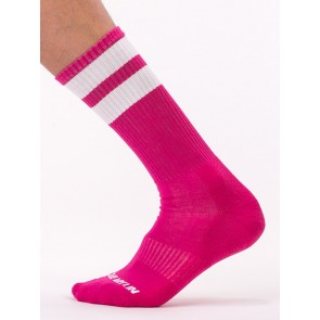 Barcode Berlin Gym Socks - Pink and White