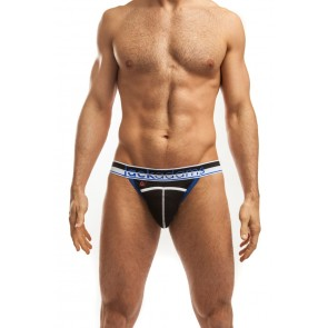 Jack Adams Kinetic Punch Hole Jock - Black/Blue