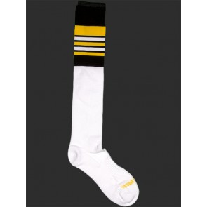 Barcode Berlin Football Socks - White,Black and Yellow