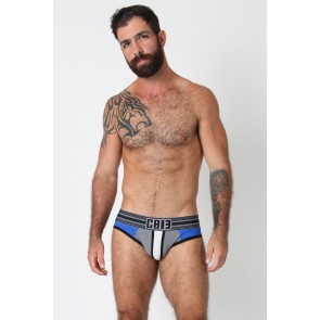 CellBlock 13 Cellmate Jock Brief - White/Grey/Blue
