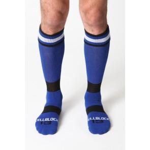 CellBlock 13 Roll Over Knee High Sock-Blue