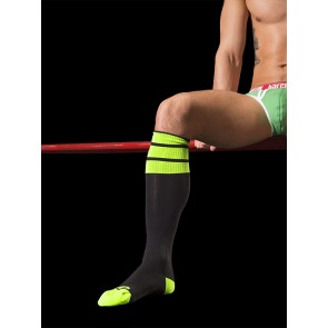 Barcode Berlin Neon Socks - Black and Lime