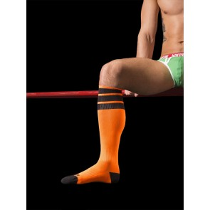 Barcode Berlin Neon Socks - Orange and Black