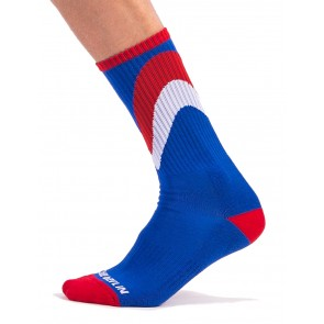 Barcode Berlin Initiale Socks - Royal,Red and White
