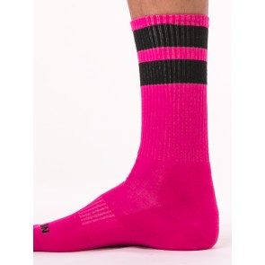 Barcode Berlin Gym Socks - Pink and Black