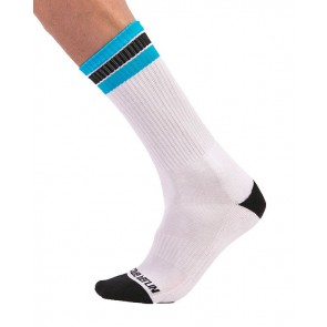 Barcode Berlin Paris Socks - White,Black and Blue