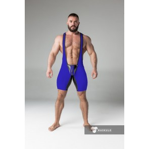 Maskulo Wrestling Singlet with Codpiece - Royal