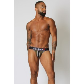 CellBlock 13 Viper II Street Legal Thong - Army Green