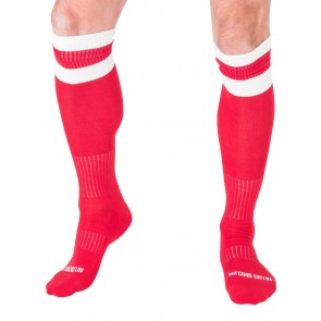 Barcode Berlin Football Socks - Red and White