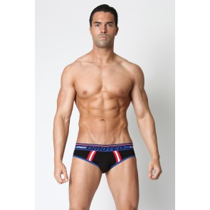 Timoteo Racer Sport Brief - Black