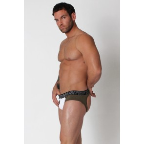 Timoteo Aero-Tech Jock Brief - Army